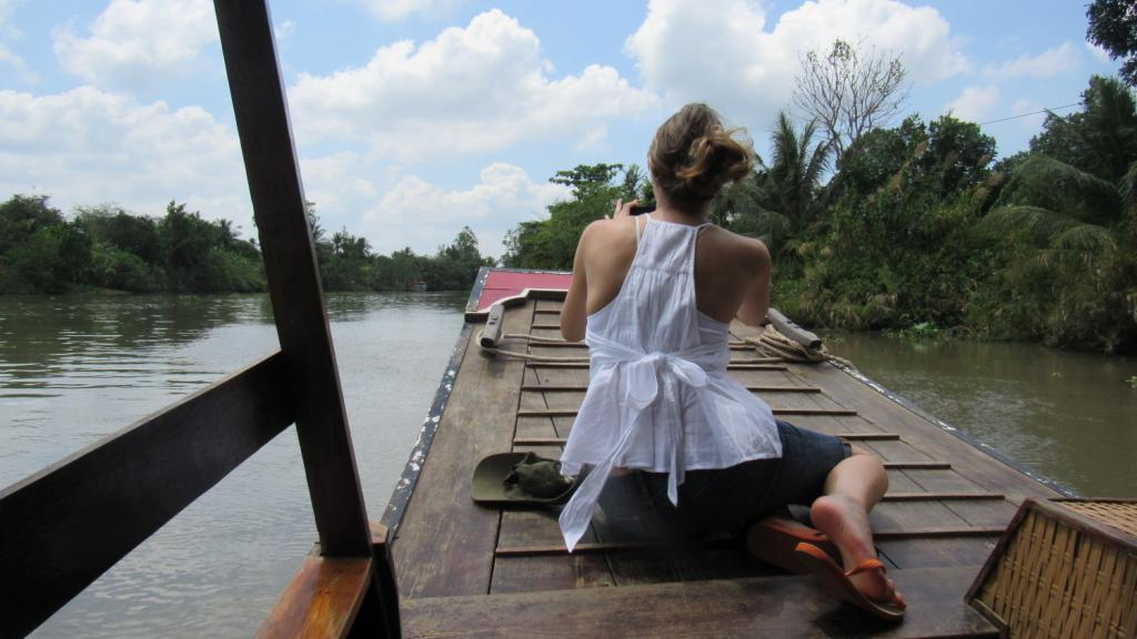 Passeio de barco pelo rio Mekong na região chamada de Delta do Mekong, sul do Vietnã, próximo à cidade de Saigon (Ho Chi Minh City). O que fazer em Saigon - roteiro de viagem em Saigon. Mekong Delta, Vietnam.