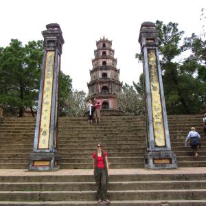 Thien Mu Pagoda, na antiga capital do Vietnã, Hue. Lugares para conhecer em Hue. Vietnã.