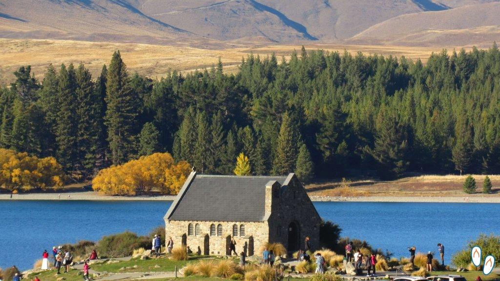 Capela no Lago Tekapo, Nova Zelândia