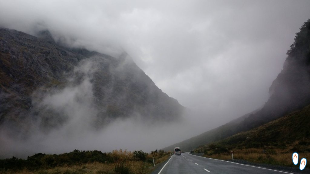Neblina na estrada