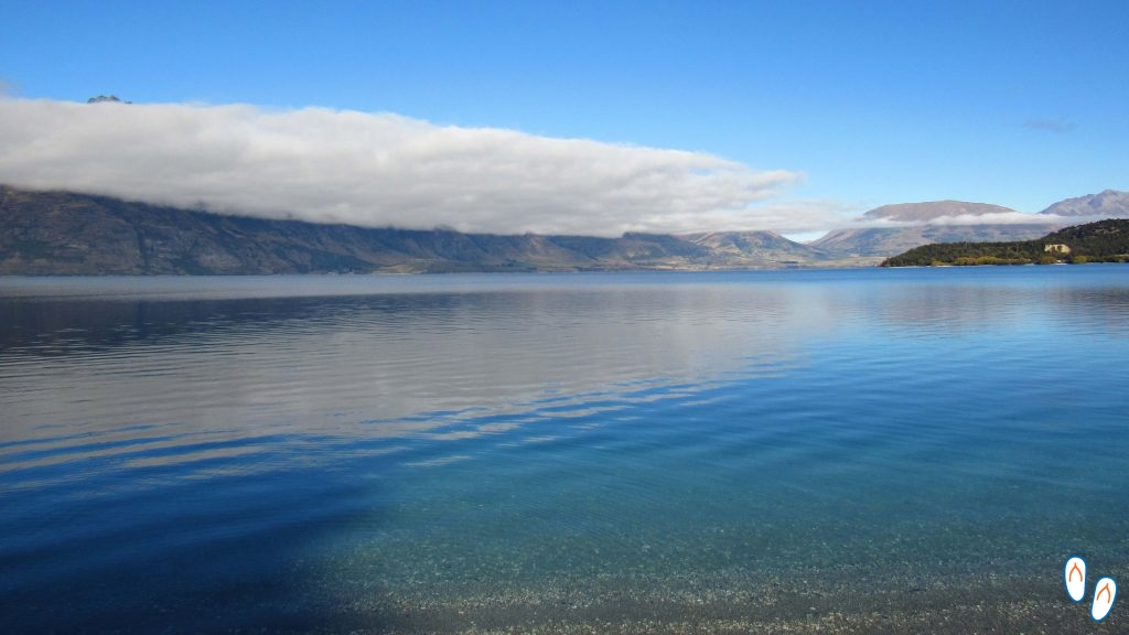 Lagos azuis da Nova Zelândia
