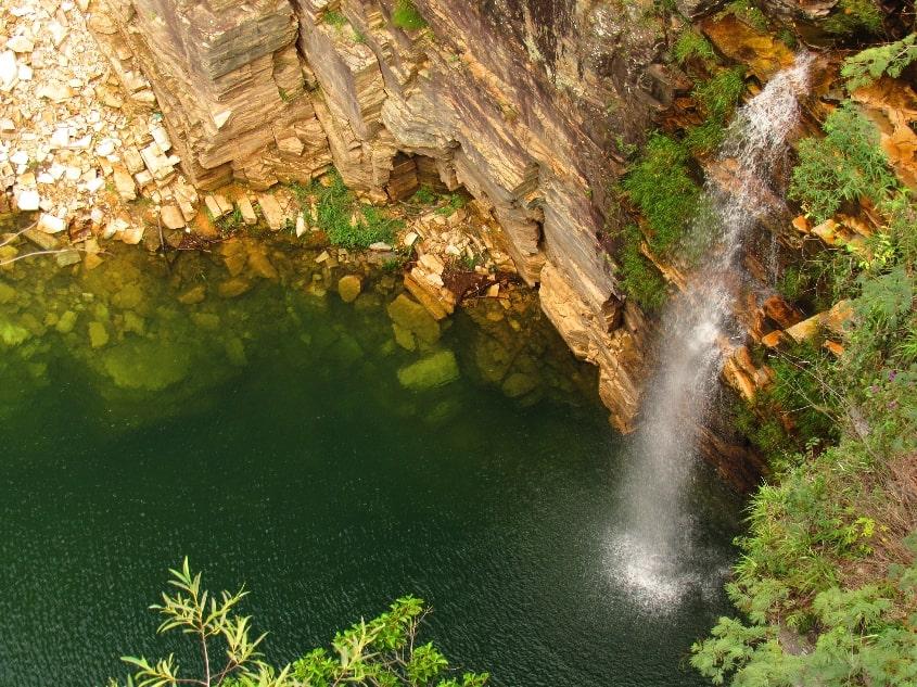 Cachoeira no Cãnion de Furnas, Furnas, Minas Gerais