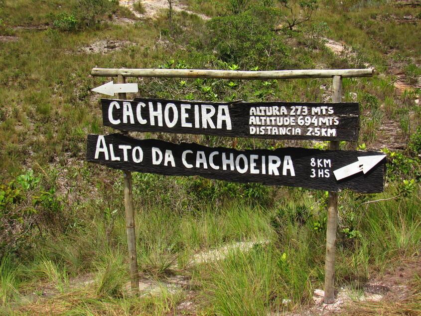 opções de trilhas para a Cachoeira do Tabuleiro, Serra do Intendente