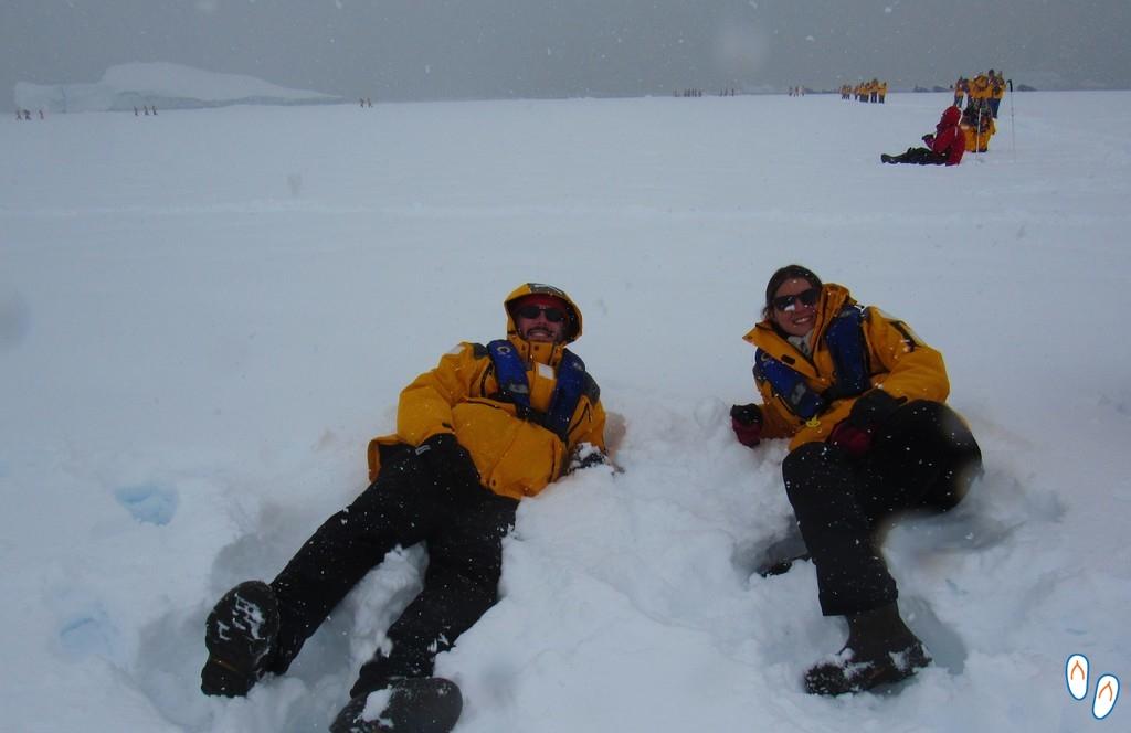 Campo de gelo na Antártida