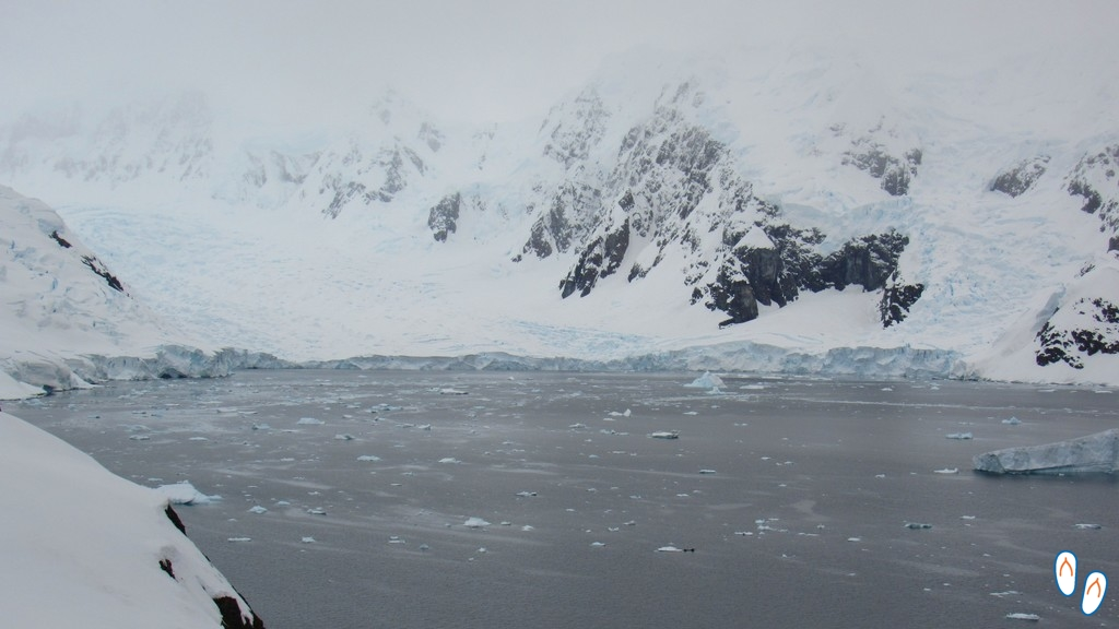 Paisagem na Antártida