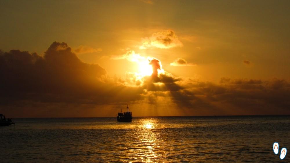 Pôr-do-sol na Praia da Conceição