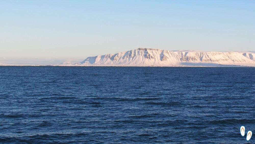 Passeio de barco na Islândia