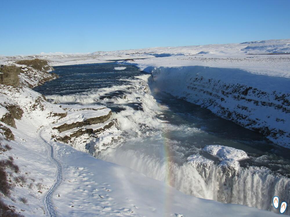 Gulfoss, uma das mais impressionantes cachoeiras da Islândia