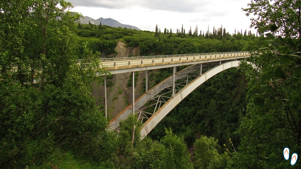 Hurricane Gulch Bridge, Alaska